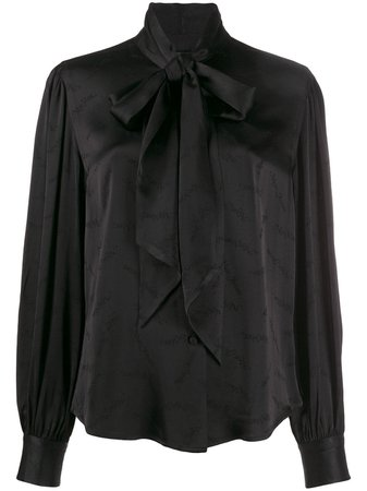 Black Marc Jacobs Pussy Bow Blouse | Farfetch.com