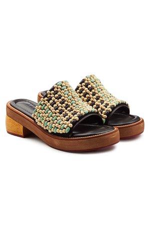 Embellished Leather Sandals Gr. EU 37