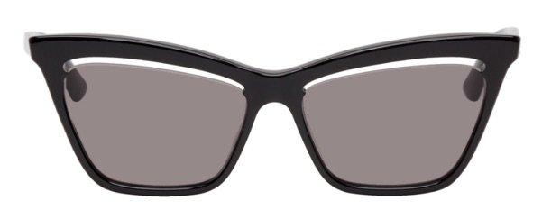 ALEXANDER MCQUEEN Black Cut-Out Sunglasses