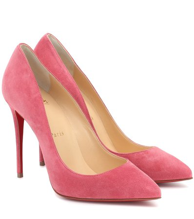 Christian Louboutin - Pigalle Follies 100 suede pumps | Mytheresa