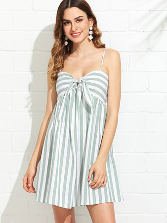 Dress white-striped