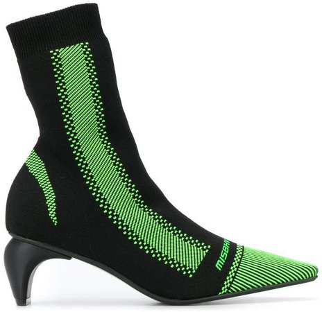 Curved-Heel Sock Boots
