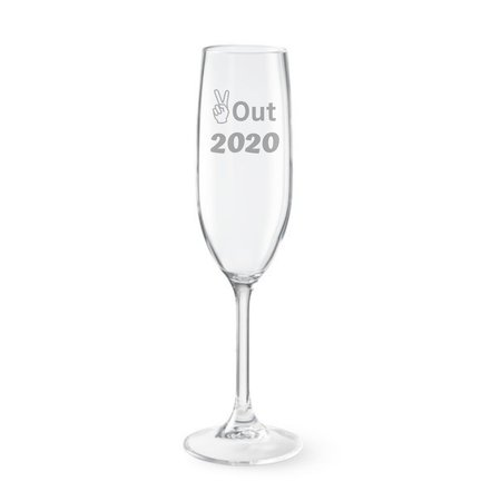 Peace out 2020 New Years toasting glass goodbye 2020 hello | Etsy