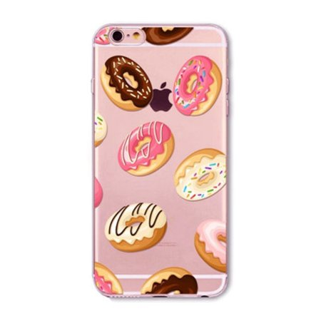 """Ice Cream Donuts Macaron Pattern Transparent Silicone Mobile Phone Protective Case Cover For iPhone 6 6S 4.7"""" on Wanelo"""
