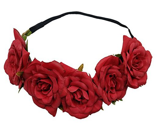 Amazon.com : Sanrich Fake Flower Crowns Headbands For Women Girl Rose Floral Head Piece Maternity Photoshoot Realistic Hair Crown Pet Headband Flower Wreath (cream) : Beauty