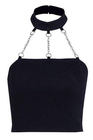 black widow choker top