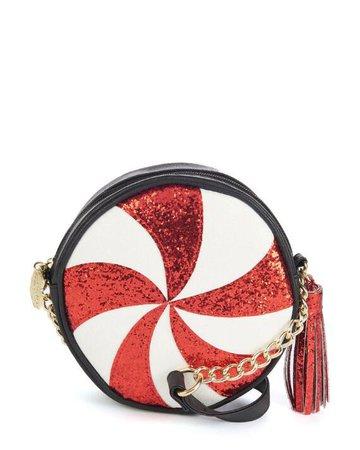 Candy Cane Canteen-Style Crossbody Bag-Mini Bags-Handbags-Handbags | Stein Mart