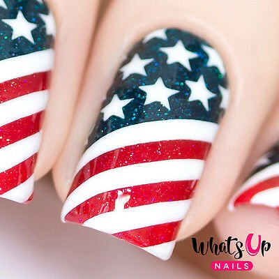 American Flag Stencils for Nails, Nail Stickers, Nail Art, Nail Vinyls | eBay