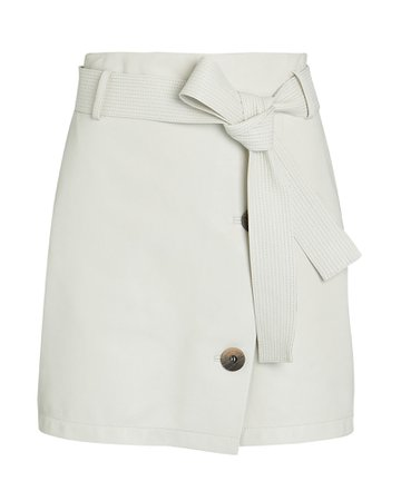 Zeynep Arcay Belted Leather Mini Skirt | INTERMIX®