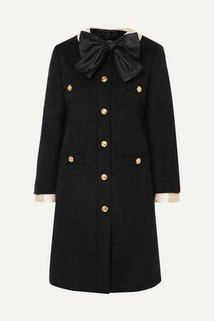 Gucci | Silk satin-trimmed wool-felt coat | NET-A-PORTER.COM