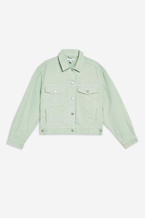 Mint Boxy Denim Jacket | Topshop mint