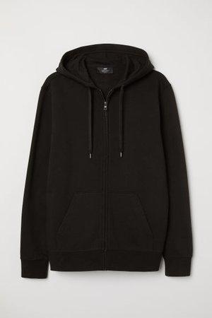Regular Fit Hooded Jacket - Black - | H&M US