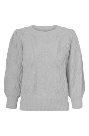 VERO MODA Duda Cable Knit Sweater | Nordstrom