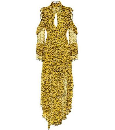 Heyford leopard silk maxi dress