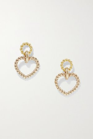 Gold Bambola gold-tone earrings | Laura Lombardi | NET-A-PORTER