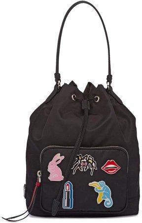 Applique-Embellished Shoulder Bag
