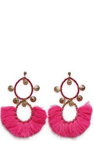 Ohrringe von Miss June in Neon Pink