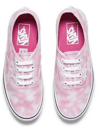 pink tir dye vans authentic