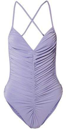 Butterfly Mio Open-back Ruched Swimsuit
