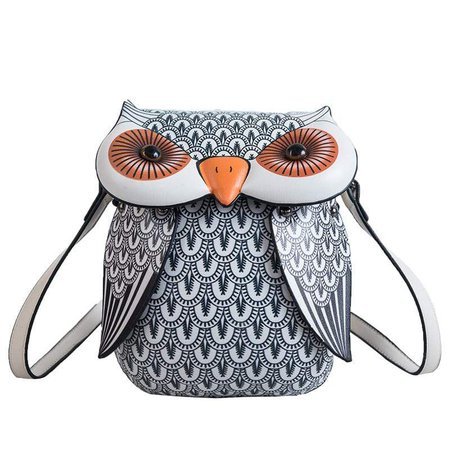 Black and White Owl Purse