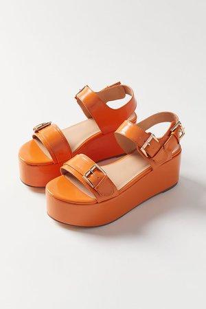 UO Violet Buckled Flatform Sandal | Urban Outfitters