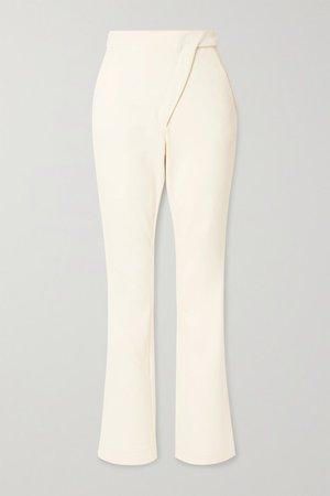 Coperni | Paneled stretch cotton-blend bootcut pants | NET-A-PORTER.COM