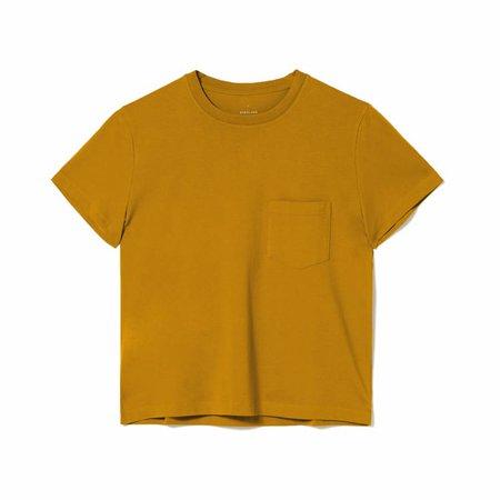 Women's Organic Cotton Box-Cut Pocket Tee | Everlane yellow