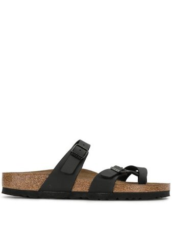 Shop black Birkenstock Mayari thong sandals with Express Delivery - Farfetch