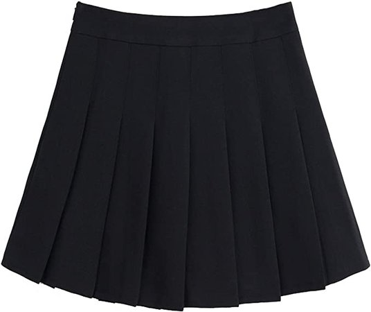 chouyatou Women's Simple High Waist All Around Pleated A-Line Skirt at Amazon Women's Clothing store