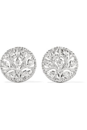 Buccellati | Ramage 18-karat white gold diamond earrings | NET-A-PORTER.COM