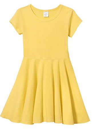 Amazon.com: City Threads Little Girls' Short Sleeve Twirly Circle Party Dress Perfect for Sensitive Skin/SPD/Sensory Friendly for School or Play Fall/Spring, Yellow, 5: Clothing