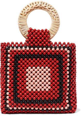 Keya Mini Beaded Tote - Red