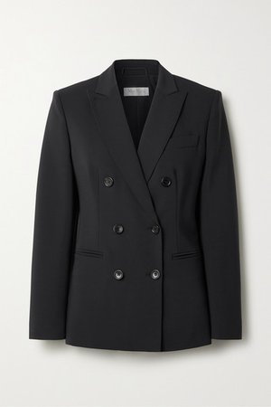 Max Mara | Nativa double-breasted wool-blend blazer | NET-A-PORTER.COM