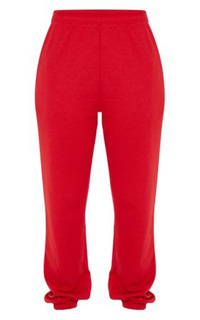 Red Casual Jogger | Trousers | PrettyLittleThing