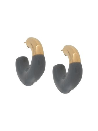 Shop gold Sunnei rubber detail earrings with Express Delivery - Farfetch