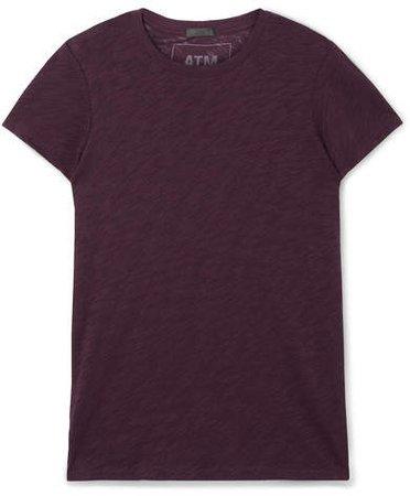 Schoolboy Stretch Slub Cotton-jersey T-shirt - Burgundy