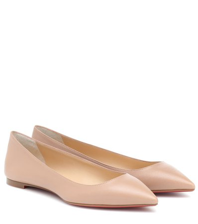 Ballalla Leather Ballet Flats - Christian Louboutin | Mytheresa