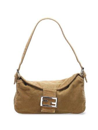 Fendi Pre-Owned Corduroy Baguette Shoulder Bag - Farfetch