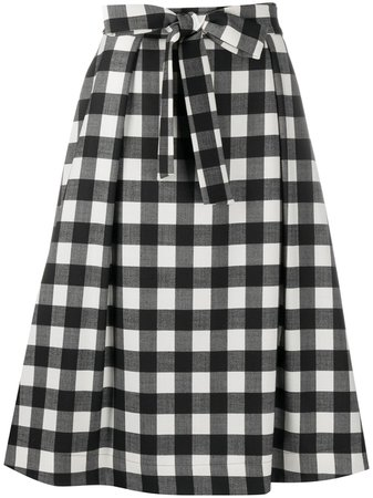 Shop MSGM check print A-line skirt with Express Delivery - FARFETCH