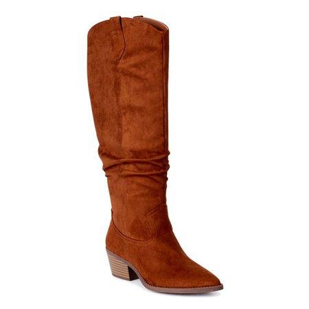 Scoop - Scoop Women's Wendy Slouch Western Boots - Walmart.com - Walmart.com