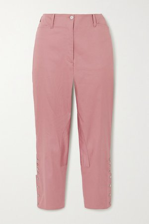 Al Beso Cotton-blend Tapered Pants - Pink