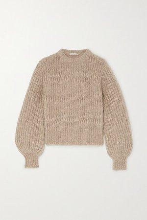Reformation | Tatum ribbed alpaca-blend sweater | NET-A-PORTER.COM