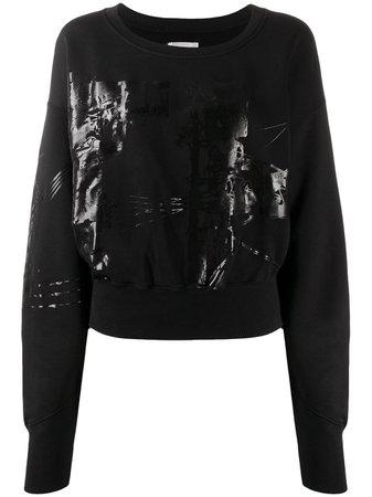 Black Faith Connexion Printed Cropped Sweatshirt | Farfetch.com