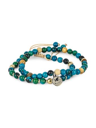 Jean Claude Tanzanian Lapis, Tigers Eye and Sterling Silver Bracelet on SALE | Saks OFF 5TH
