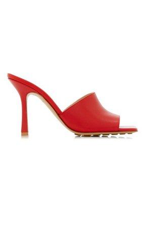 Stretch Leather Slide Sandals By Bottega Veneta | Moda Operandi