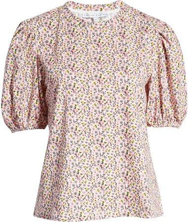 Floral Puff Sleeve T-Shirt