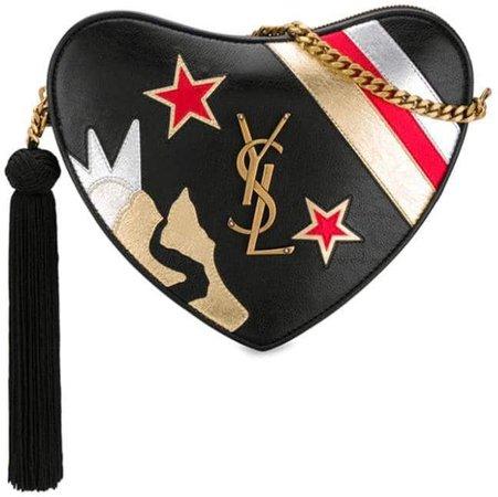 heart-shaped shoulder bag