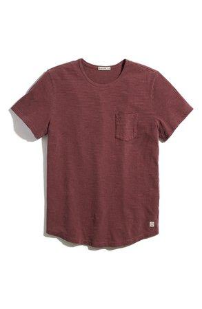 Marine Layer Saddle Stripe Pocket T-Shirt | Nordstrom