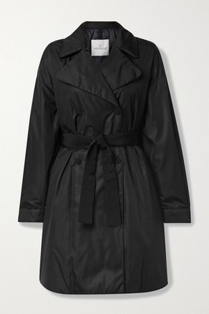 Meboula Double-breasted Shell Down Coat - Black