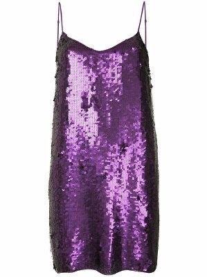 TIBI Sequin Slip Dress